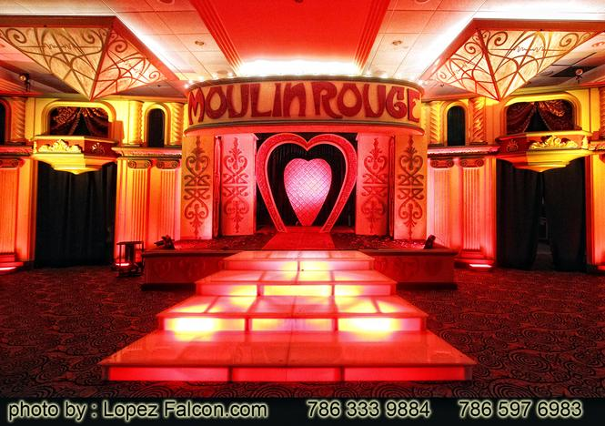 Moulin Rouge Stage Miami Quinces Party Quinceanera 15 anos