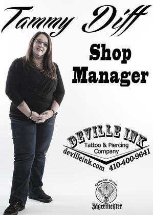 DeVille Ink tattoo shop manager baltimore maryland