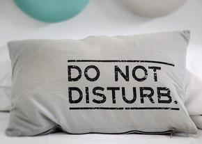 Do Not Disturb pillow, meditation, ellie hadsall, cosmicgathering