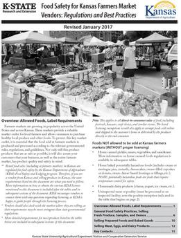 Food Safety for Kansas Farmers Market Vendors PDF link