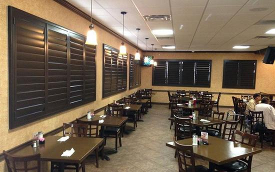 Beautiful shutters installed in a local El Paso restaurant