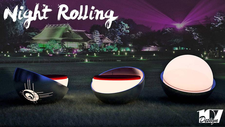 NIGHT ROLLING SEDUTA LUMINOSA LAMP PER ESTERNI EXTERIORDESIGN MODELLAZIONE 3D MODEL DESIGN PROJECT DESIGN107