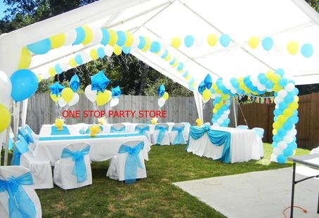 balloon arches and centerpieces