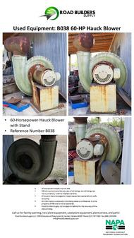 Hauck 60-HP Blower for Asphalt Plant