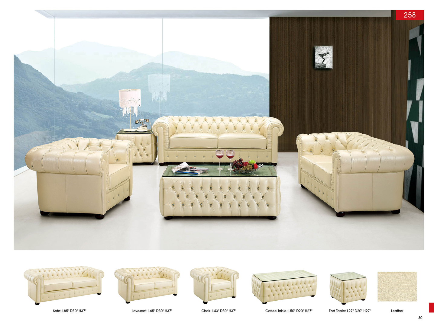 Ivory Living Room Furniture Over