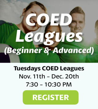 Coed Leagues Beginners & Advanced Levels Available