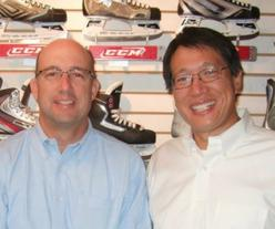 Beacon Hill Skate Shop owners Charles Phillips and Emzon Shung