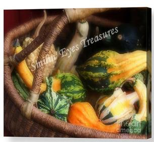 Gourds In Basket