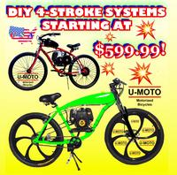 4 stroke motorized bikes