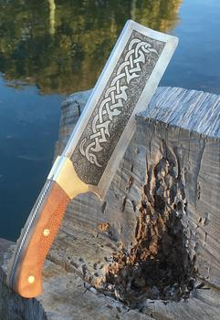 How to easily make a DIY Celtic Cleaver knife. FREE step by step instructions. www.DIYeasycrafts.com