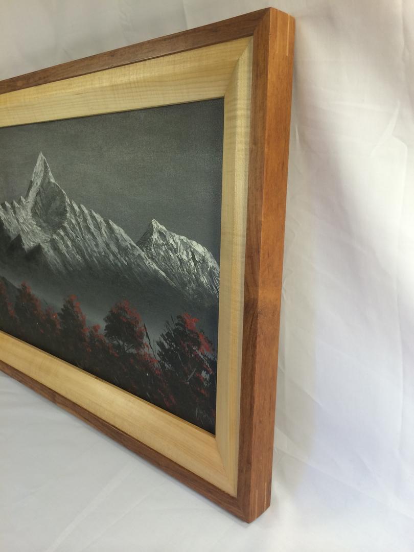 Portfolio large art frame figured maple machiche jeuxipadfo Image collections