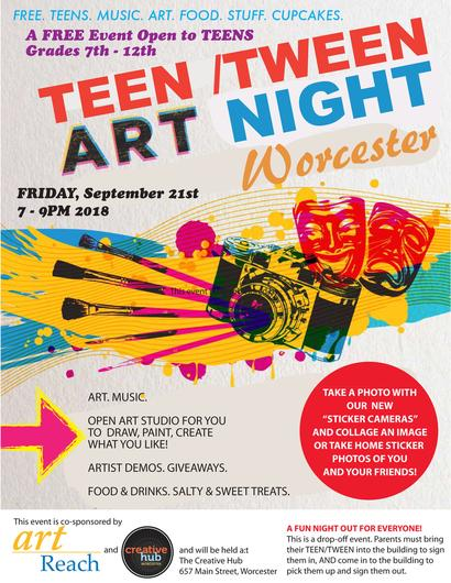 Teen art night hosted by 4