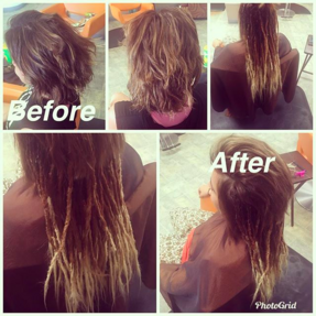 Starting Locs with Human Hair Extensions
