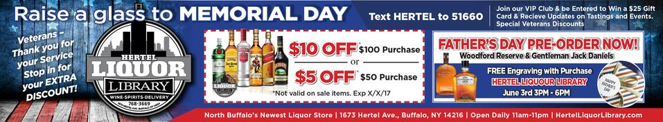 Click here to get a coupon for Hertel Liquor Library, North Buffalo's liquor store