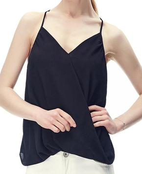 Black Surplice Tank