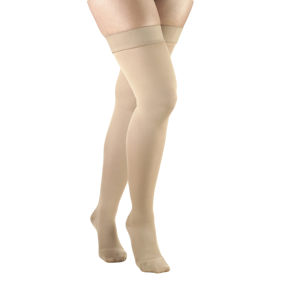 bad116d25392c4  30-40mmHg . Closed & open toe. Silicone lace top for women 8867. by Truform