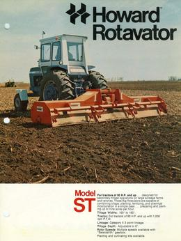 Howard Rotavator Model ST Brochure