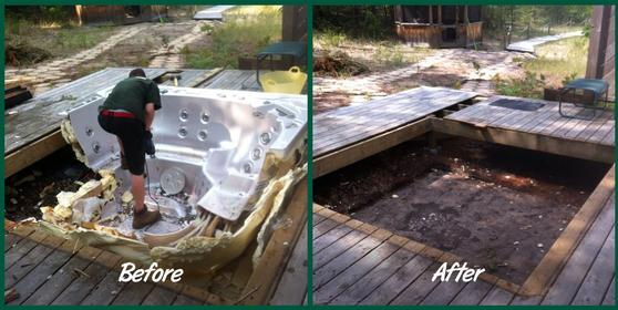 Hot Tub Removal Hot Tub Disposal Hot Tub Moving Hot Tub Recycling Service And Cost | Lincoln NE | LNK Junk Removal