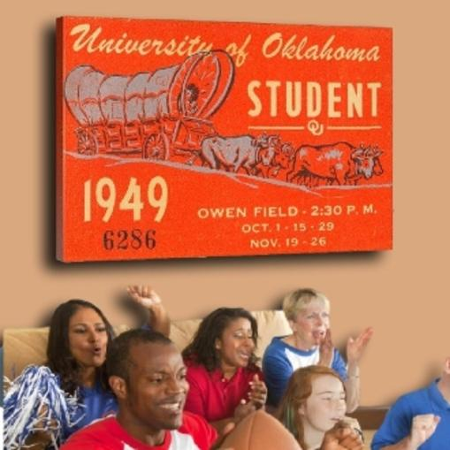 Oklahoma Sooners football art
