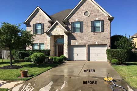 driveway cleaning in Cypress Texas