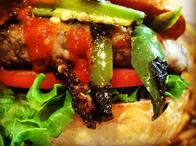 Chorizo & Hatch Chile Burger