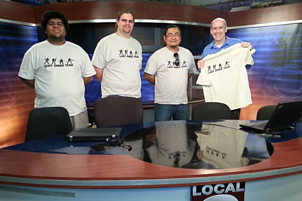 KESQ Palm Springs (August 2014) Eye On the Desert: Inland Empire Lightsaber Team Fights for a Healthier Lifestyle