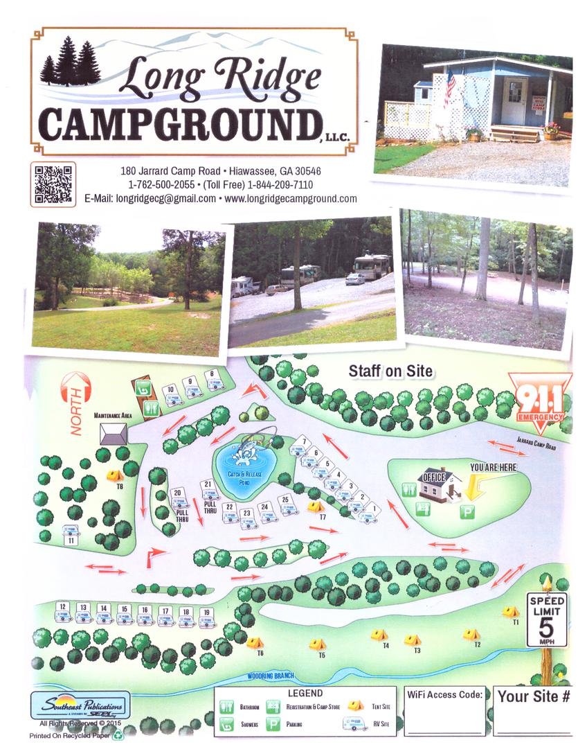 on campgrounds in georgia map