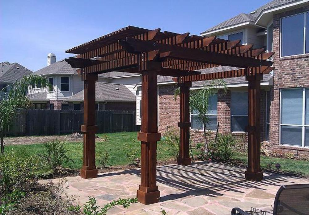 texan pergola custom built western red cedar pergolas. Black Bedroom Furniture Sets. Home Design Ideas