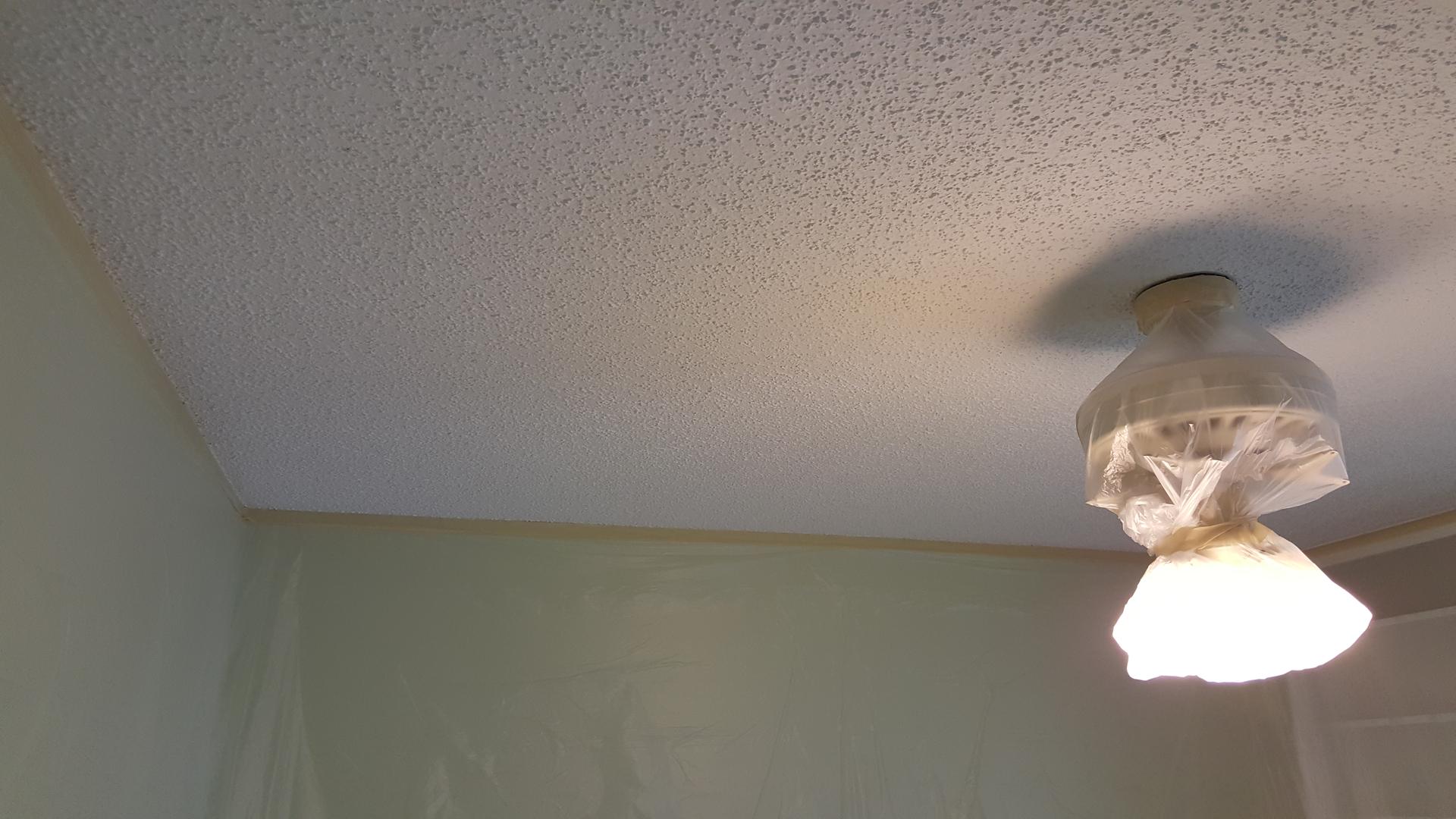 Drywall renovation popcorn removal texture paint wallpaper