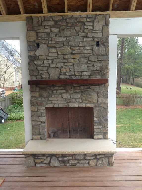 how to build an outdoor fireplace with chimney
