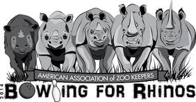 AAZK Bowling for Rhinos Logo