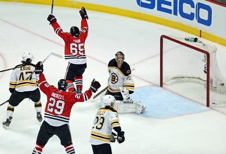 Andrew Shaw 2013 Stanley Cup Game 1 3OT Goal