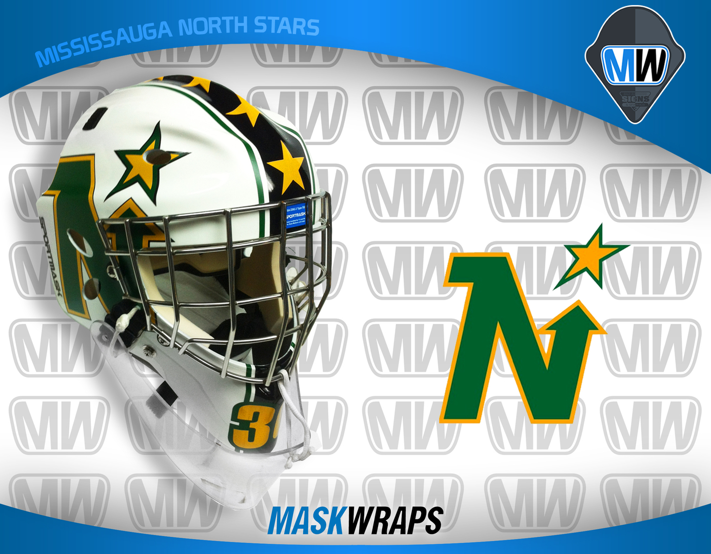 Goalie helmet vinyl wrap