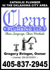 Clean Plumbing LLC: Call 405-837-2945