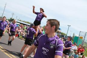 north shore rugby in superior july 4th parade