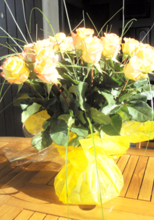 Yellow Rose Hand Tied Bouquet