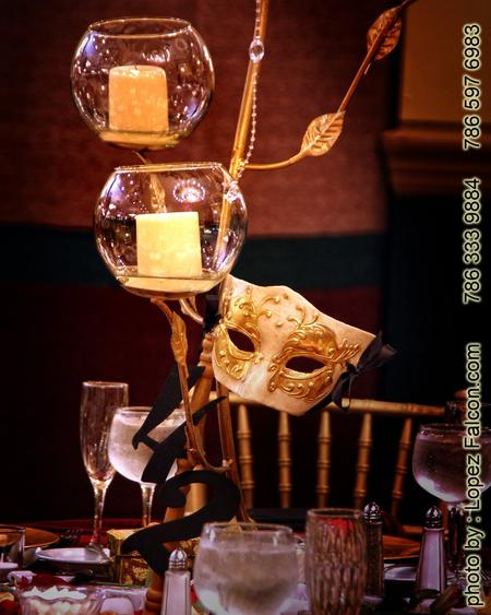Phantom of the Opera Centerpieces Quinceanera Party Miami