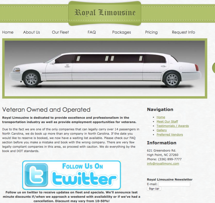 Royal Limo ~ Castle McCulloch Preferred Vendor