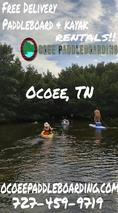Ocoee TN Paddleboard and Kayak Rentals