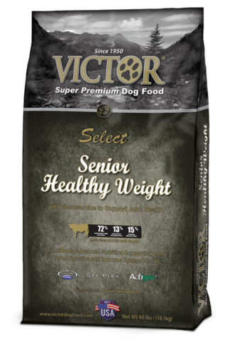 Victor Senior Healthy Weight dog food with Glucosamine for Joint Health