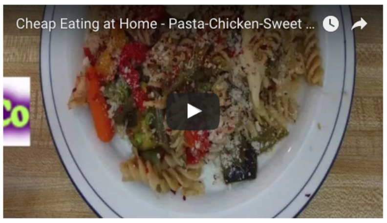 Pasta-Chicken-Sweet Peas-Mixed Vegetables