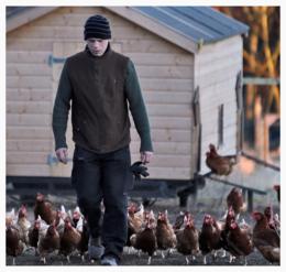 Breakfast Dates in Fife image man on chicken farm