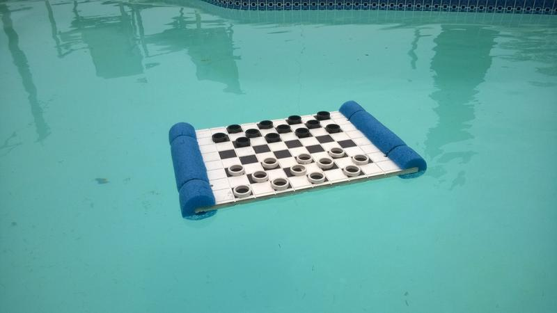 How to make Floating checkers board
