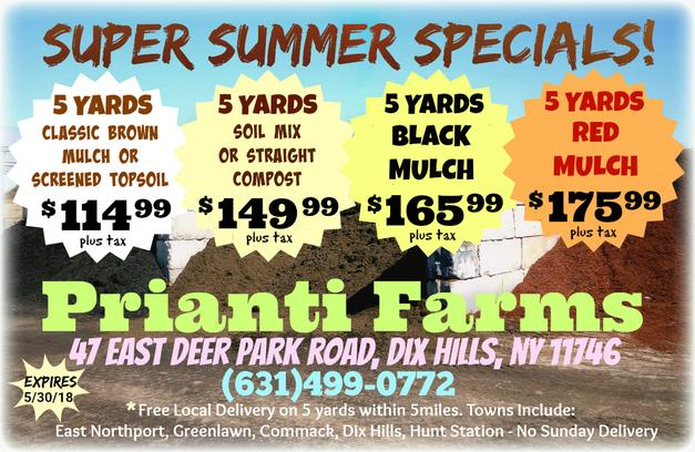 Mulch Soil Compost Bulk Sale Prianti Special Delivery Long Island
