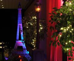 Paris Prom Themed Event Decor - Eiffel Tower, Lamp Posts and Twinkling Trees