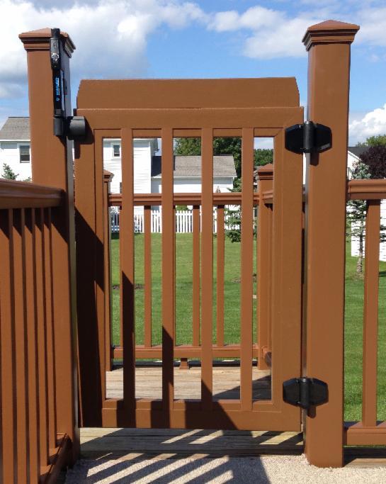 rockland trex deck gates timbertech deck gates fiberon gates