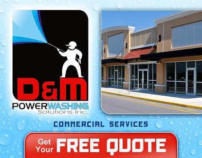 Commercial Building Pressure Washing Concrete Power
