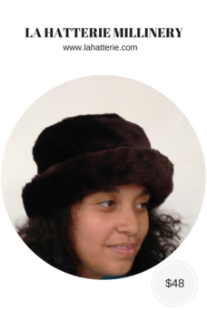 Fall/Winter Casual Hat- 1610-Faux Fur Hat
