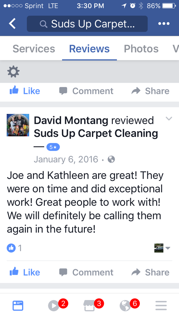 Suds Up Carpet Cleaning, Tile cleaning Same day service 7