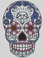 Cross Stitch Chart of Sugar Skull No 19